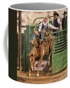 Bareback Riding At The Wickenburg Senior Pro Rodeo Coffee Mug