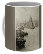 Barges On The South Bank Coffee Mug