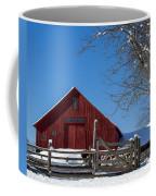 Barn And Blue Sky Coffee Mug