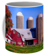 Barn And Silos Hawaiian Chapel Effect Coffee Mug