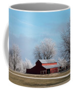Barn On Frosty Morn Coffee Mug