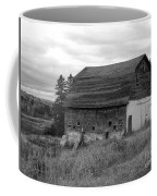 Barn On The River Flat Coffee Mug