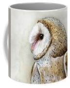 Barn Owl Watercolor Coffee Mug