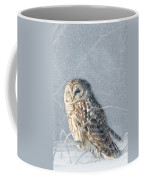 Barred Owl In The Snowstorm Coffee Mug
