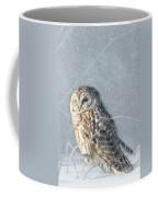 Barred Owl In The Snowstorm Coffee Mug