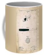 Baseball Bat - Patent Drawing For The 1902 John Hillerich Basebal Bat Coffee Mug