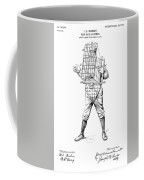 Baseball Catcher Cage - Restored Patent Drawing For The 1904 James Edward Bennett Catcher Cage Coffee Mug