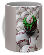 Baseball Cupcake Coffee Mug by Garry Gay