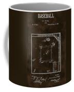 Baseball Game Patent Coffee Mug