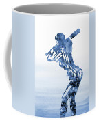 Baseball Girl-blue Coffee Mug