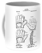 Baseball Glove Patent 1910 Coffee Mug