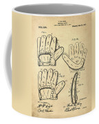 Baseball Glove Patent 1910 Sepia Coffee Mug