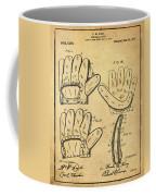 Baseball Glove Patent 1910 Sepia With Border Coffee Mug