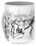 Baseball On Ice, 1884 Coffee Mug
