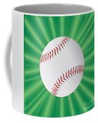 Baseball Over Green Coffee Mug