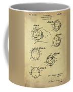 Baseball Training Device Patent 1961 Sepia Coffee Mug