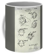 Baseball Training Device Patent 1961 Weathered Coffee Mug
