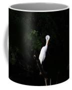 Bashful Egret Coffee Mug