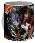 Basket Of Crocheting And Thread Coffee Mug