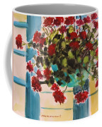 Basket Of Geraniums Coffee Mug