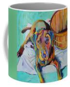 Basket Retriever Coffee Mug by Pat Saunders-White