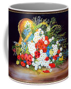 Basket With Summer Flowers Coffee Mug