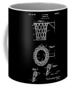 Basketball Net Patent 1951 In Black Coffee Mug
