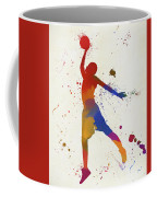 Basketball Player Paint Splatter Coffee Mug