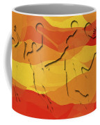 Basketball Players Abstract Coffee Mug by David G Paul