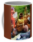 Baskets Of Yarn At Flea Market Coffee Mug
