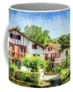 Basque Houses In Ainhoa 2- Vintage Version Coffee Mug