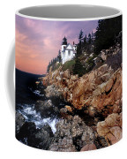 Bass Harbor Head Lighthouse In Maine Coffee Mug by Skip Willits