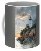 Bass Harbor Lighthouse On Maine Nautical Chart Coffee Mug