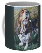 Basset Hound In Wheat Coffee Mug