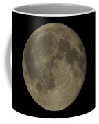 Bat Flying Past The Full Moon Coffee Mug