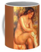 Bather Drying Her Leg Coffee Mug