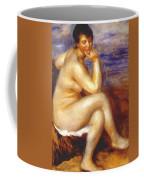 Bather With A Rock Coffee Mug