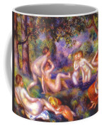 Bathers In The Forest Coffee Mug