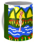Bathing In A Mountain Stream Coffee Mug