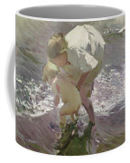 Bathing On The Beach Coffee Mug