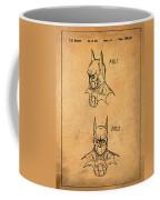 Batman Cowl Patent In Sepia Coffee Mug