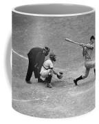 Batter Swings Strike At Home Plate Coffee Mug