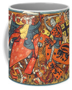 Battle Between Crusaders And Muslims Coffee Mug