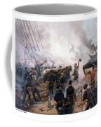 Battle Between Kearsarge And Alabama Coffee Mug by War Is Hell Store