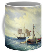Battle Between The Russian Ship Opyt And A British Frigate Off The Coast Of Nargen Island  Coffee Mug