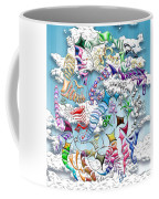 Battling Kites -- Blue Coffee Mug