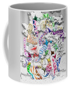 Battling Kites -- Gray Coffee Mug