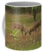Battling Whitetails 0102 Coffee Mug by Michael Peychich