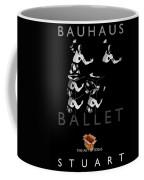 Bauhaus Ballet Black Coffee Mug by Charles Stuart
