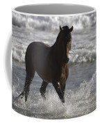 Bay Andalusian Stallion In The Surf Coffee Mug